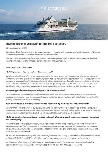 Return to Sailing FAQ - April 2021